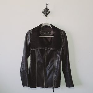 Mackage Shearling Lined Leather Jacket Size XS